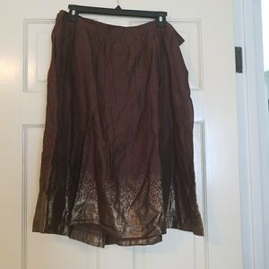 Cotton Skirt with Lining